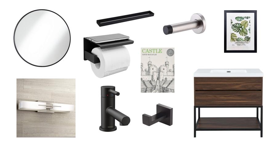 Bathroom Parts List
